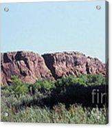 785 Sl  Red Rock Medow Acrylic Print