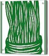 Hassenplug Plant Leaves Green White Acrylic Print