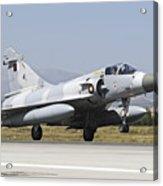 A Qatar Emiri Air Force Mirage Acrylic Print