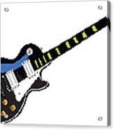 8 Bit Gibson Les Paul Acrylic Print