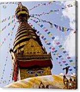 Bodhnath Stupa In Nepal Acrylic Print