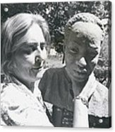 British-born Sculptress Completes Bust Of President Nyerere Acrylic Print