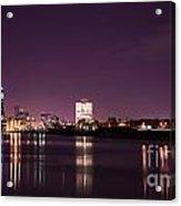 City Lights Skyline Acrylic Print