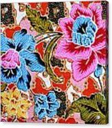 Colorful Batik Cloth Fabric Background  Acrylic Print by Prakasit Khuansuwan