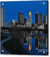 Columbus Ohio Skyline At Night Acrylic Print