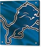 Detroit Lions Uniform Acrylic Print