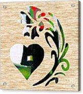 Heart And Flowers Acrylic Print