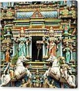 Hindu Temple With Indian Gods Kuala Lumpur Malaysia Acrylic Print