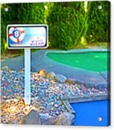 8 Hole Sign On  Golf Course Acrylic Print