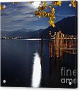 Moon Light Over An Alpine Lake Acrylic Print