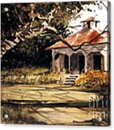 8 Of Us Kids Lived Here Acrylic Print