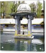 Premises Of The Hindu Temple At Mattan With A Water Pond Acrylic Print