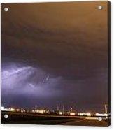 Round 2 More Late Night Servere Nebraska Storms Acrylic Print