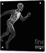 Running Male Figure Acrylic Print