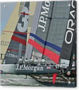 San Francisco Sailboat Racing Acrylic Print