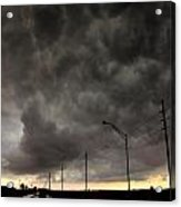 Severe Warned Nebraska Storm Cells Acrylic Print
