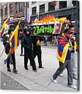Tibetan Protest March Acrylic Print