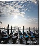 Venice With Gondolas Acrylic Print