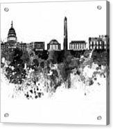 Washington Dc Skyline In Watercolor On White Background Acrylic Print