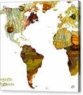 Abstract Map Acrylic Print
