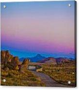 80's Sunset Acrylic Print