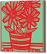 Worship Excelsior Flowers Red Green Blue Acrylic Print