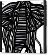Batra Elephant Grey Black White Acrylic Print
