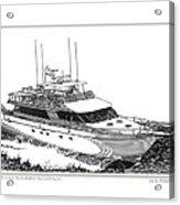 85 Foot Custom Nordlund Motoryacht Acrylic Print by Jack Pumphrey