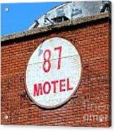 87 Motel Acrylic Print