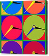 879 - Three Thirty - Eight Pop Clocks Acrylic Print
