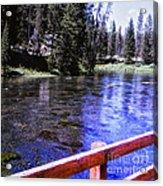896 Sl Crossing The River Acrylic Print