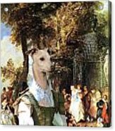 Italian Greyhound Art Canvas Print  Acrylic Print