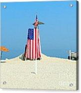9-11 Beach Memorial Acrylic Print