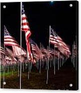 9-11 Flags Acrylic Print