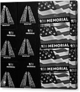 9/11 Memorial For Sale In Black And White Acrylic Print