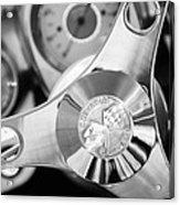 1960 Chevrolet Corvette Steering Wheel Emblem Acrylic Print by Jill Reger