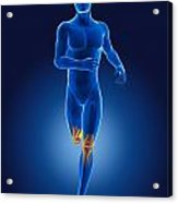 3d Running Medical Man Acrylic Print