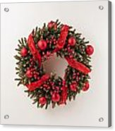 Advent Christmas Wreath  Acrylic Print