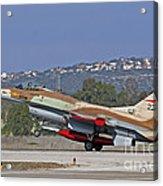 An F-16a Netz Of The Israeli Air Force Acrylic Print