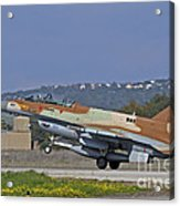An F-16d Barak Of The Israeli Air Force Acrylic Print