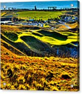 #9 At Chambers Bay Golf Course - Location Of The 2015 U.s. Open Tournament Acrylic Print by David Patterson