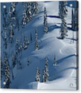 Backcountry Ski Traverse In Glacier Acrylic Print