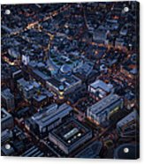 Belfast At Night, Northern Ireland Acrylic Print