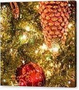 Christmas Tree Ornaments Acrylic Print