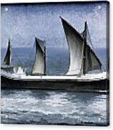 Fishing Vessel In The Arabian Sea Acrylic Print