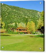9-hole Golf Course In Autumn At Pine Acrylic Print