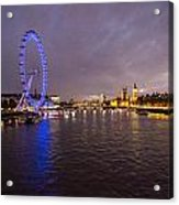 London Skyline Sunset Acrylic Print