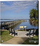 Melbourne Beach Pier In Florida Acrylic Print