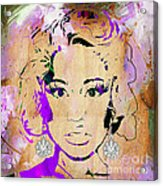 Nicki Minaj Diamond Earring Collection Acrylic Print