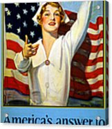 Red Cross Poster, 1917 Acrylic Print